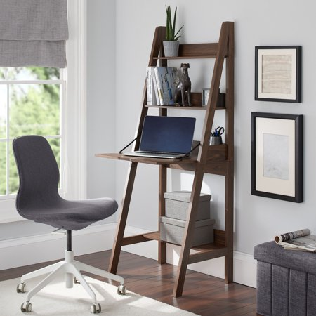 mainstays-contemporary-3-shelf-ladder-desk,-canyon-walnut-finish by mainstays