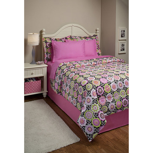 Funky Floral Bed in a Bag Bedding Set