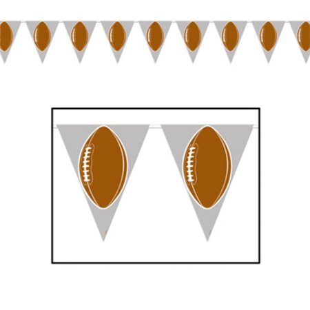 Pack of 12 American Football Game Day Tailgating Party Decoration Pennant Banners 12' - Party Of America