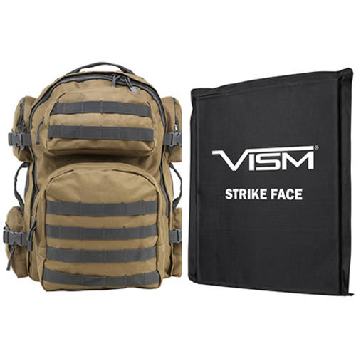 """NcStar Tactical Backpack with 10"""" x 12"""" Square Panels, Black"""