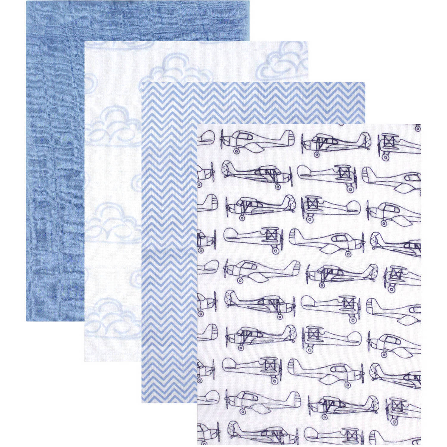 Hudson Baby Boy And Girl Muslin Swaddle Blankets 4 Pack