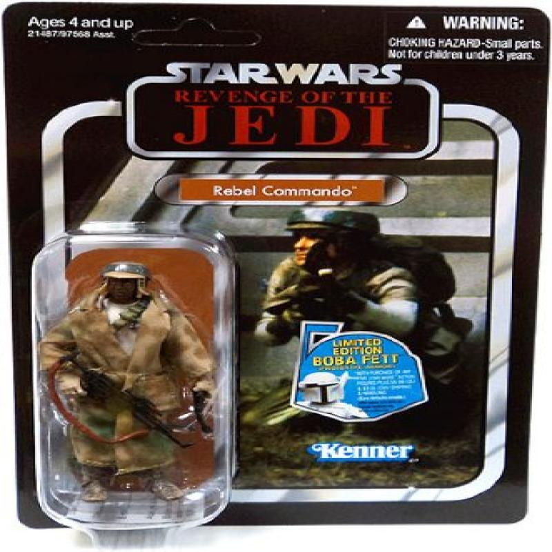 Star Wars 2010 Vintage Collection Action Figure #26 Rebel Commando African American Variant by