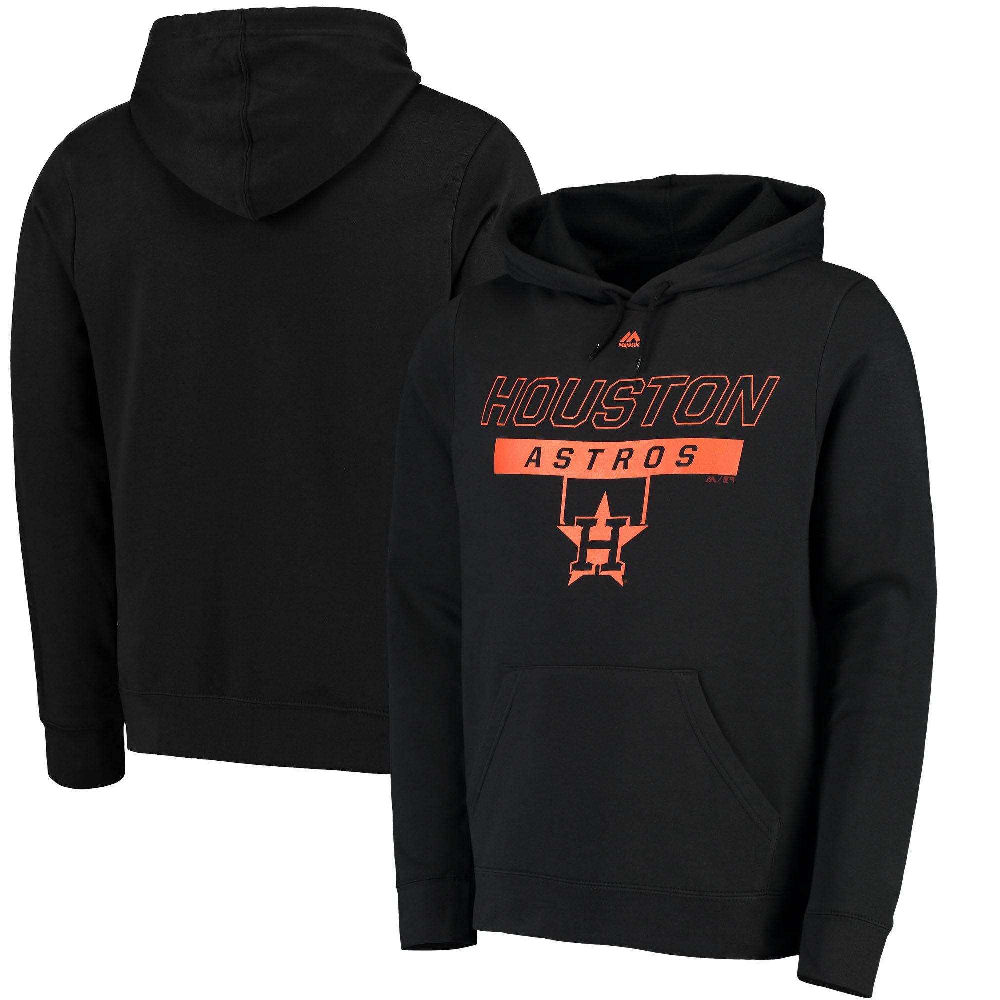 Houston Astros Majestic Ready and Able Pop Logo Pullover Hoodie - Black