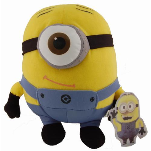 "Descpicable Me 8"" Plush Minion 1 Eye Stuart by Toy Factory"