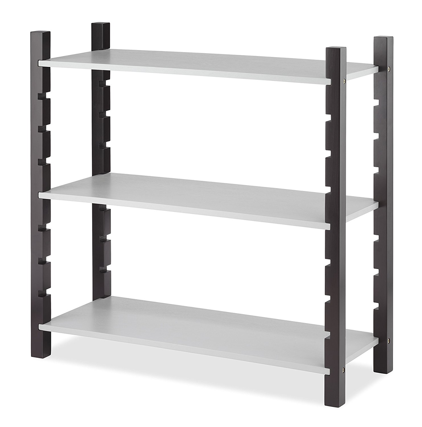 Modular 3 Tier Shelving, Walnut & Gray