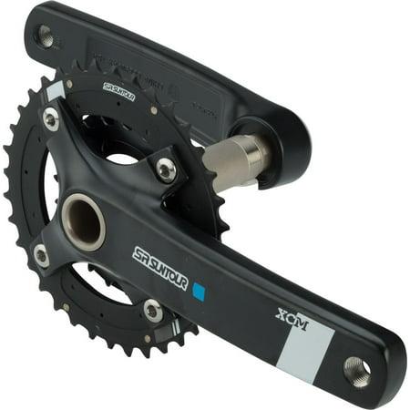 SR Suntour XCM-AX Crankset: 10-speed, 36/22t, 175mm, Hollowtech II,