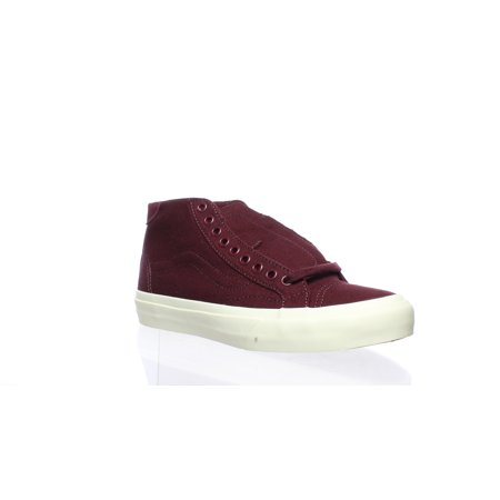 Vans Womens Court Mid Burgundy Skateboarding Shoes Size 5.5](Vans Sizing Chart)