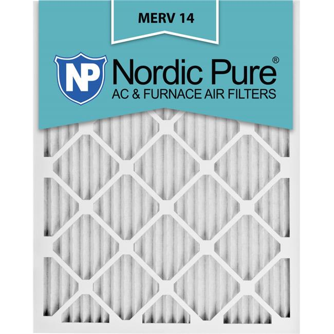 Nordic Pure 19x22x1 Exact MERV 10 Pleated AC Furnace Air Filters 3 Pack