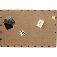 Linon Burlap Nailhead Corkboard, Multiple Sizes