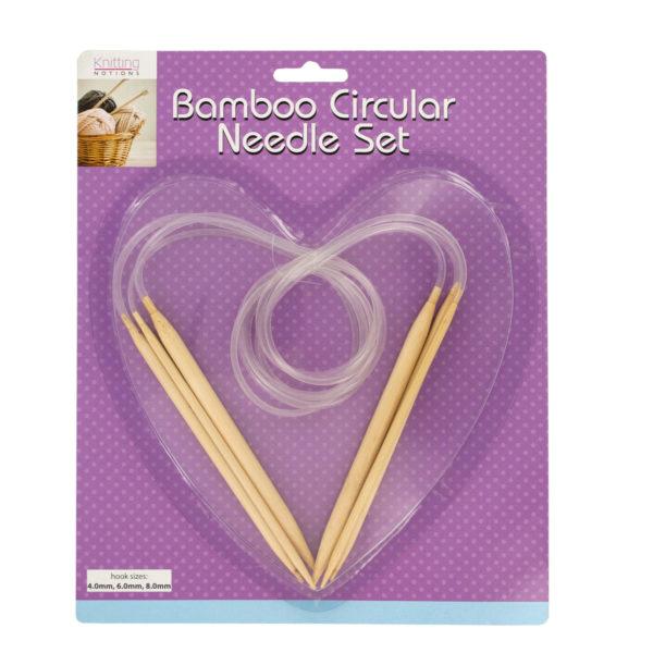 Bamboo Circular Knitting Needle Set (Pack Of 8)
