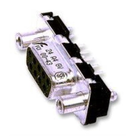 5X Fci D15S33E4Gv00Lf Connector, D Sub, Receptacle, 15 Position