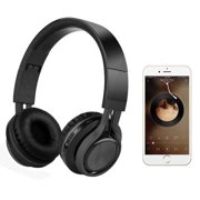 Bluetooth Headphones, Foldable Wireless Bluetooth Headphones Over Ear Stereo Wireless Headset with Mic and Volume Control Compatible for PC/Cell Phones/TV/pad COOL BLACK