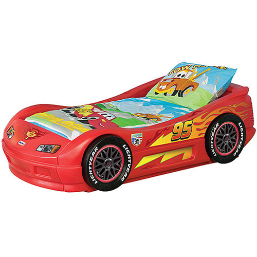 Disney Cars - Lightning McQueen Toddler Bed  sc 1 st  Walmart : lighting mcqueen bed - azcodes.com