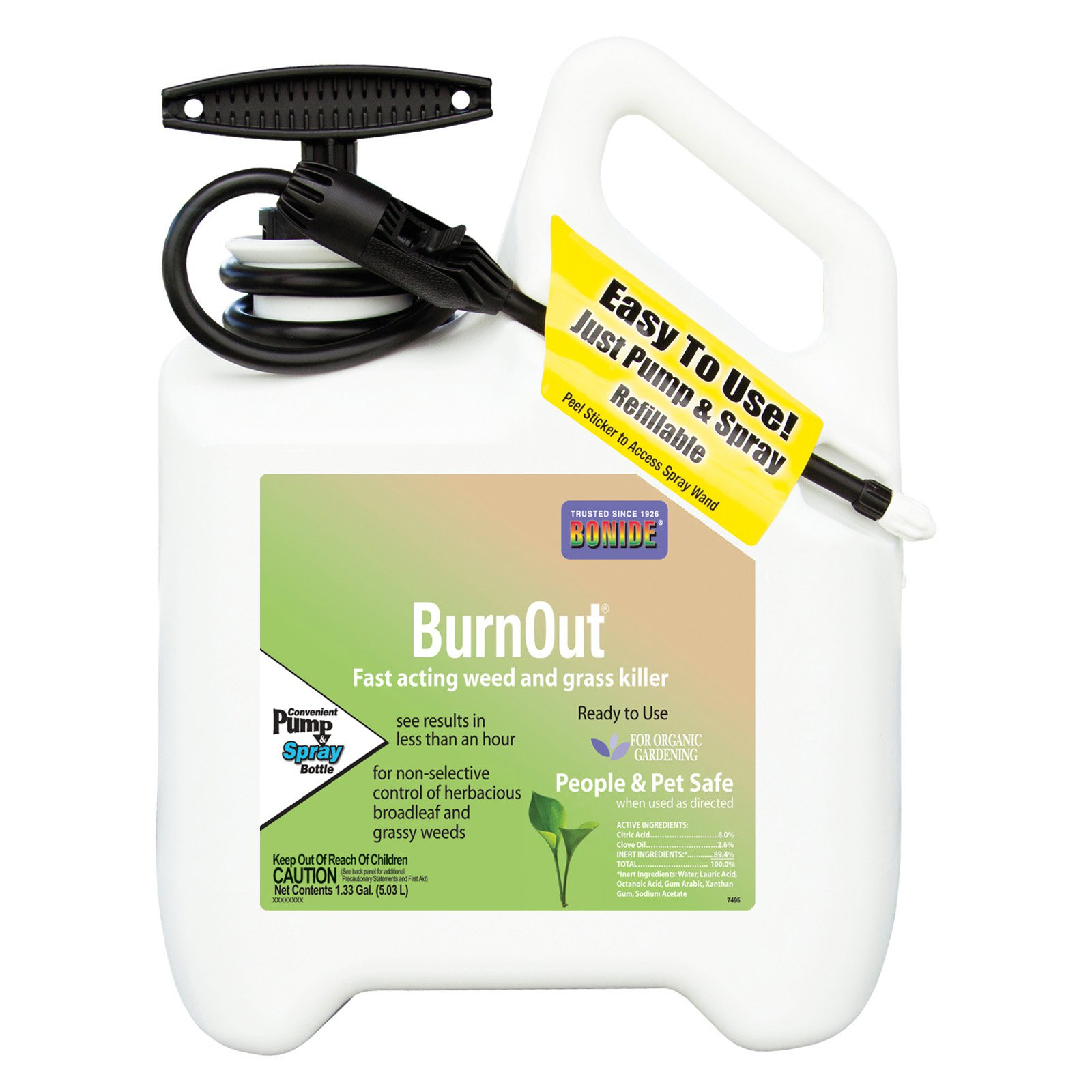 Bonide Product BND7495 Bonide Burn Out Weed & Grass Killer, 1 gal