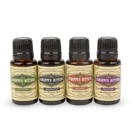 Scrappy's Classic Cocktail Bitters Sampler Gift Pack - Set of 4