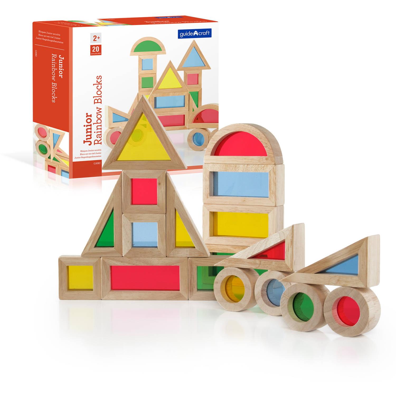 Guidecraft Jr. Rainbow Block Set, 20pc