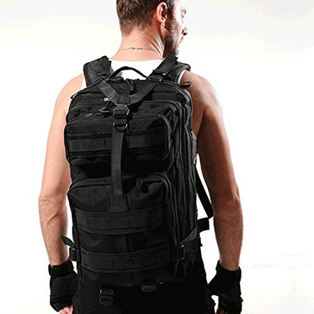 Ktaxon 30L Tactical Military Backpack, Assault Molle Bag, EDC Daypack, Army 3P Rucksack for Outdoor Travel, Sports, Hiking, Camping, Trekking, Hunting, Oxford Cloth Material,