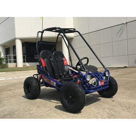 Off Road Go Kart Suspension - Blue TrailMaster Mini XRX/R+ (Plus) Upgraded Go Kart with Bigger Tires, Frame, Wider Seat