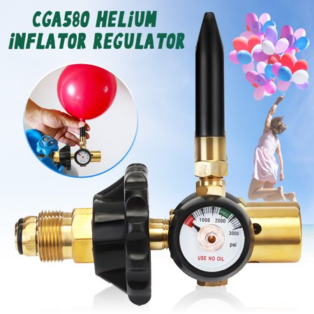Helium balloonsaccessorie Latex Balloon Air Inflator Regulator With Gauge For G5/8 Tank Valves](Air Tank For Balloons)