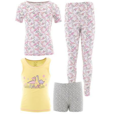 Rene Rofe Girls Adorawble Dino Cotton 2-Pack Pajamas](Adult Dinosaur Pajamas)