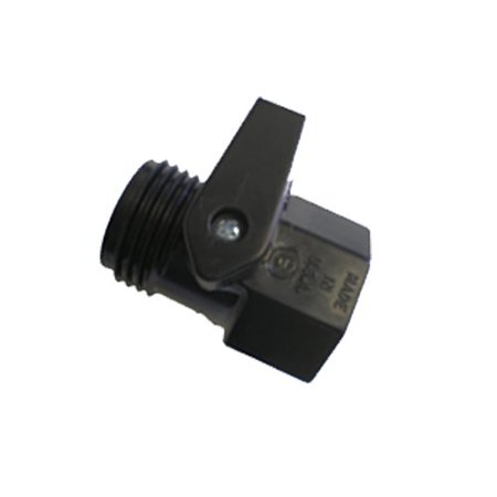 12365 Garden Hose Plastic Shut-Off Valve, Dramm Shut-Off Valve Black ABS
