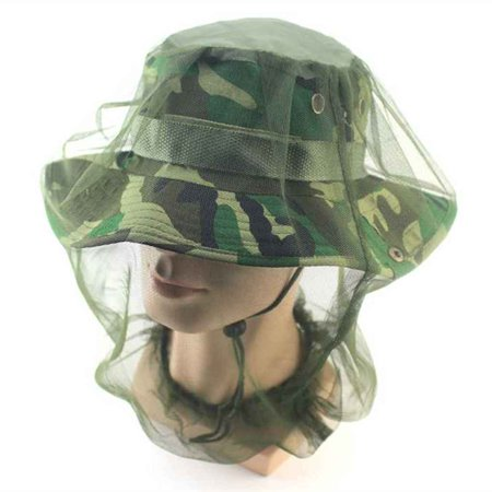 Midge Mosquito Insect Hat Bug Mesh Head Net Face Head Protector Mesh Travel Camping Mesh (Mosquito Head)