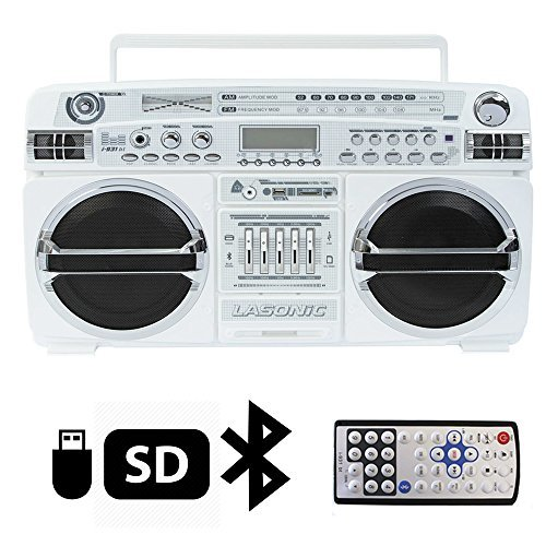 Lasonic High Performance Ghetto Blaster Music System with...