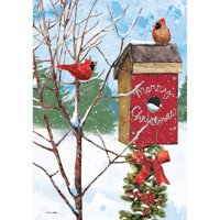 Lang Companies Merry Birdhouse Petite Christmas Cards for Heart Warming Greetings 2 Cards and 13 Envelopes - 5''x3.5''