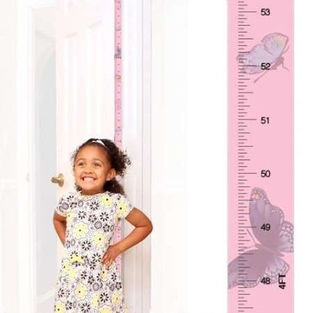 Award-winning Mom Approved PeekaBoo Growth Charts (I Love Butterflies) Fits in Door Jamb, Removable, Self-Adhesive [72 x 1.25 Inches]