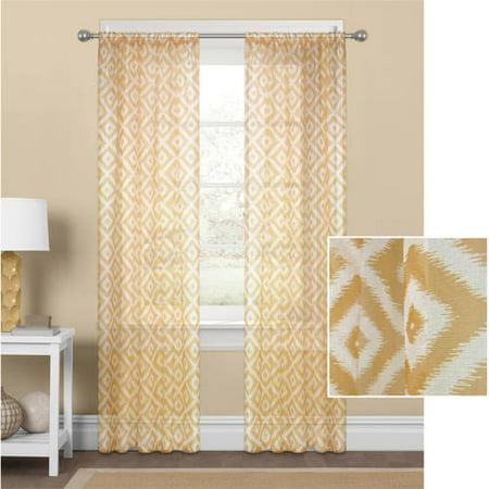Mainstays Diamond Sheer Window Curtain Panel ()