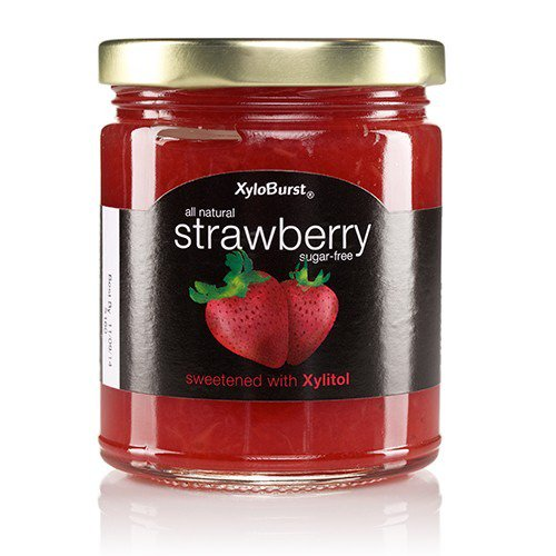 Strawberry Fruit Jam XyloBurst 10 oz Glass Jar