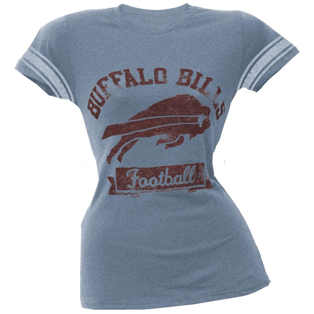 Buffalo Bills - Vintage Logo Juniors Varsity T-Shirt