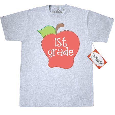 Back To School Clothing (Inktastic 1st Grade Teacher Apple T-Shirt School First Teaching Elementary Back To Occupations Mens Adult Clothing Apparel Tees T-shirts)