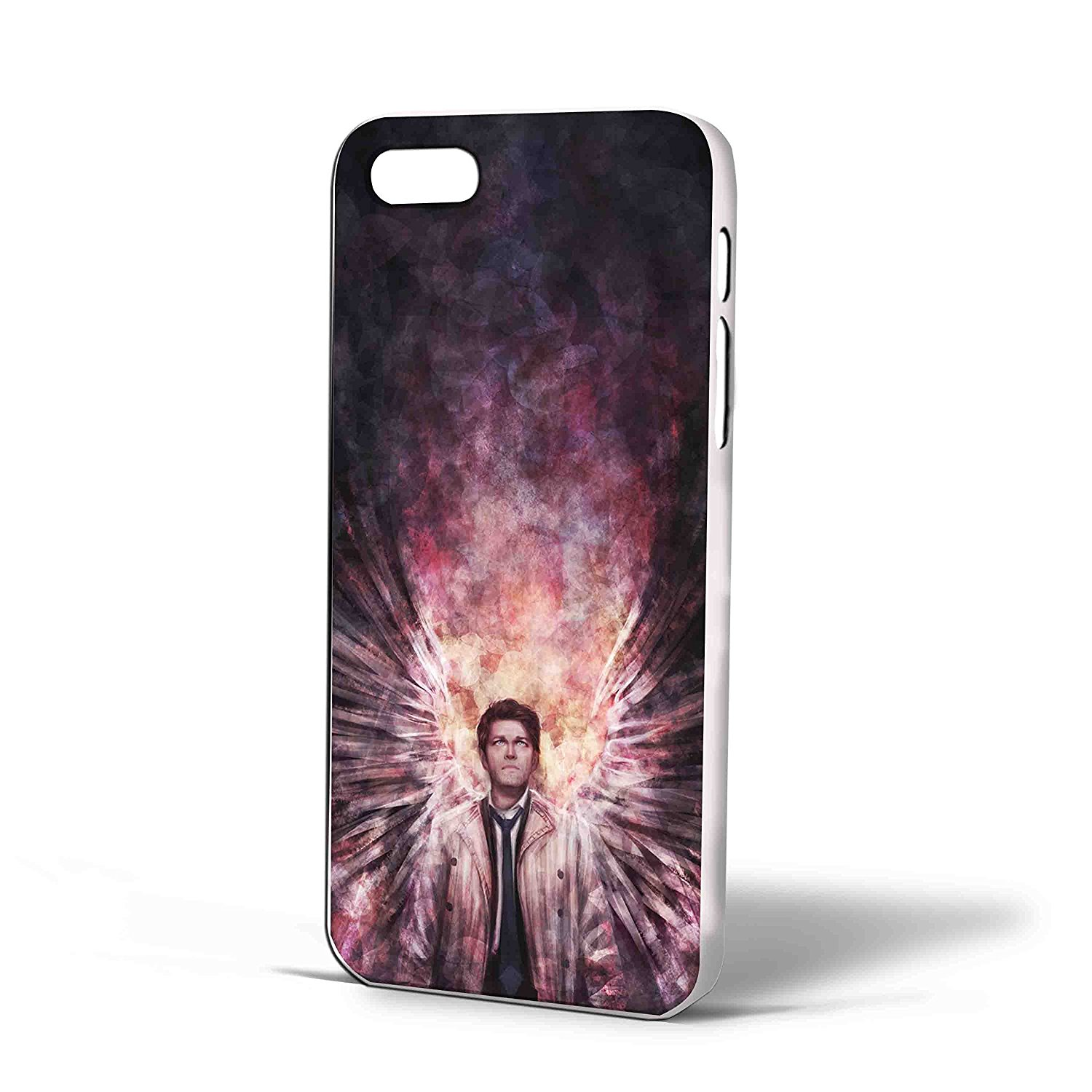 Ganma supernatural castiel galaxy Case For iPhone Case (Case For iPhone 5c White)