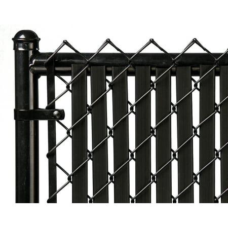 Image of Black 7ft Tube Slat for Chain Link Fence