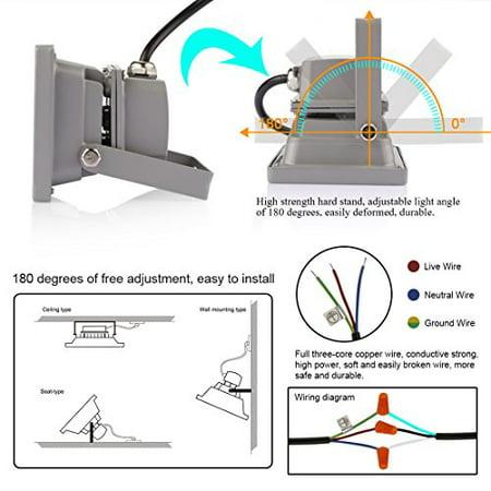 LED Flood light LEDMO, 100W Halogen Equivalent Warm Light, outdoor on case 1845c light switch diagram, led toggle switch diagram, outdoor wire for wiring,