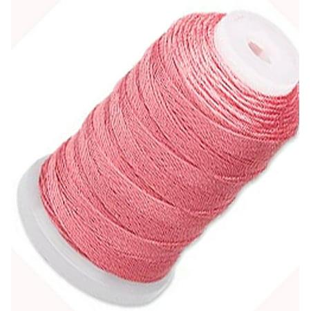 Silk Thread Cord Size E Coral 0.0128 Inch 0.325mm Spool 200 Yd