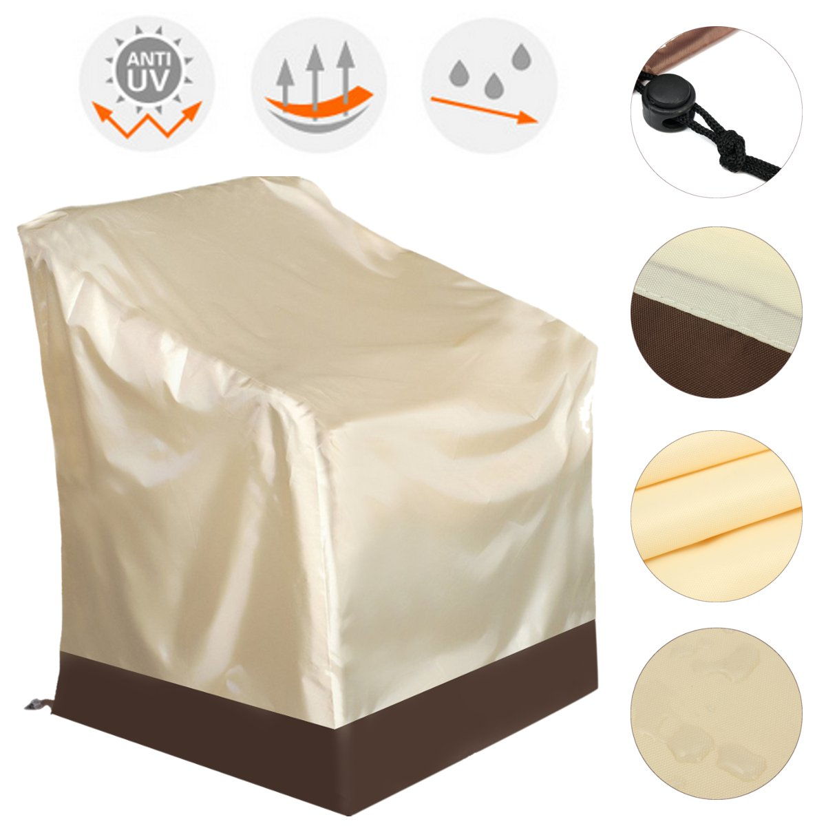 Superbe Meigar High Back Chair Covers Outdoor Yard Furniture Protection Accessories  Veranda Patio Rocking Chair Cover   Durable And Water Resistant Patio Set  Cover