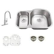 Schon SC567553 Double Basin Undermount Kitchen Sink Set
