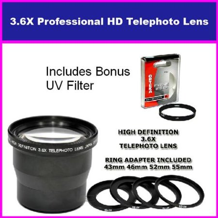 58mm 3.5X HD Professional Telephoto lens For CANON EOS 1000D 450D 400D 500D EOS 5D REBEL XT XTI XSI T1I T2I Includes Bonus 72MM Protective UV Filter