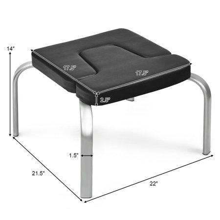 gymax yoga headstand bench iron legs w/ pvc pads for