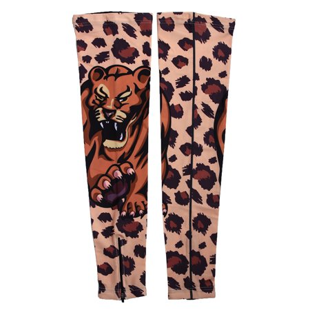 Lycra Cycling Knee Warmer - XINTOWN Authorized Tiger Print Knee Protector Cycling Cover Leg Sleeves S Pair