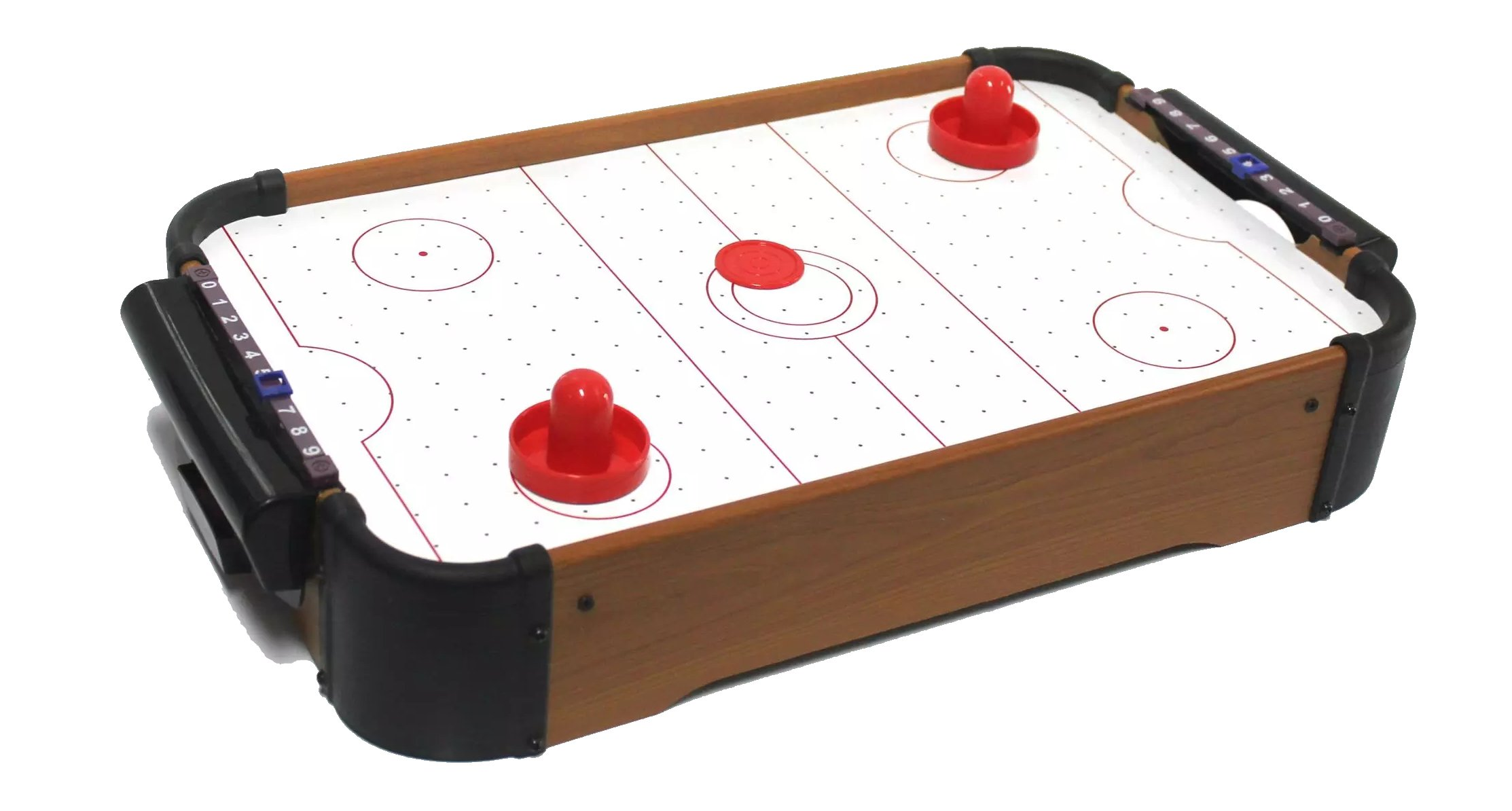 Table Top Air Hockey Battery Operated Arcade Game Retro Puck Pushers Players