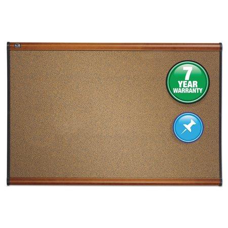 Brown Deluxe Board - Quartet Prestige Bulletin Board, Brown Graphite-Blend Surface, 36 x 24, Cherry Frame -QRTB243LC