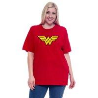 DC Comics Wonder Woman Short Sleeve T-Shirt Red (Women's Plus)