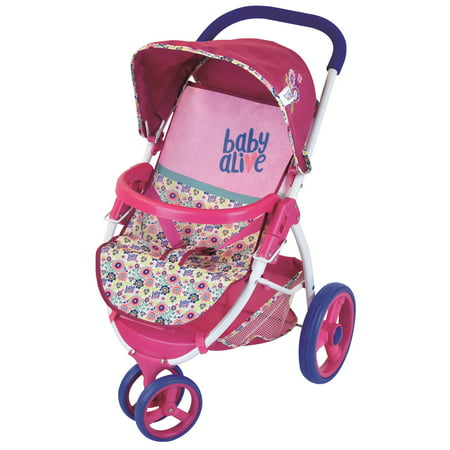 Hasbro Baby Alive Lifestyle Stroller](Double Baby Doll Stroller)