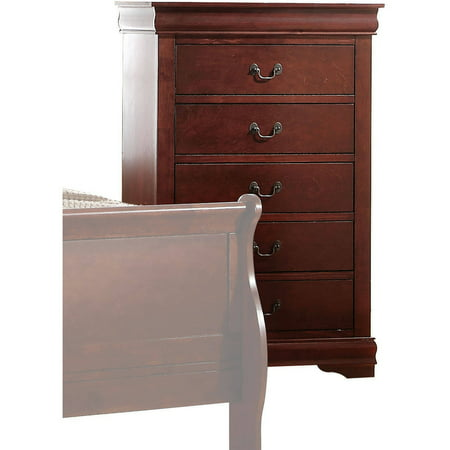 Acme Furniture Louis Philippe Chest with Five Drawers, Multiple Finishes