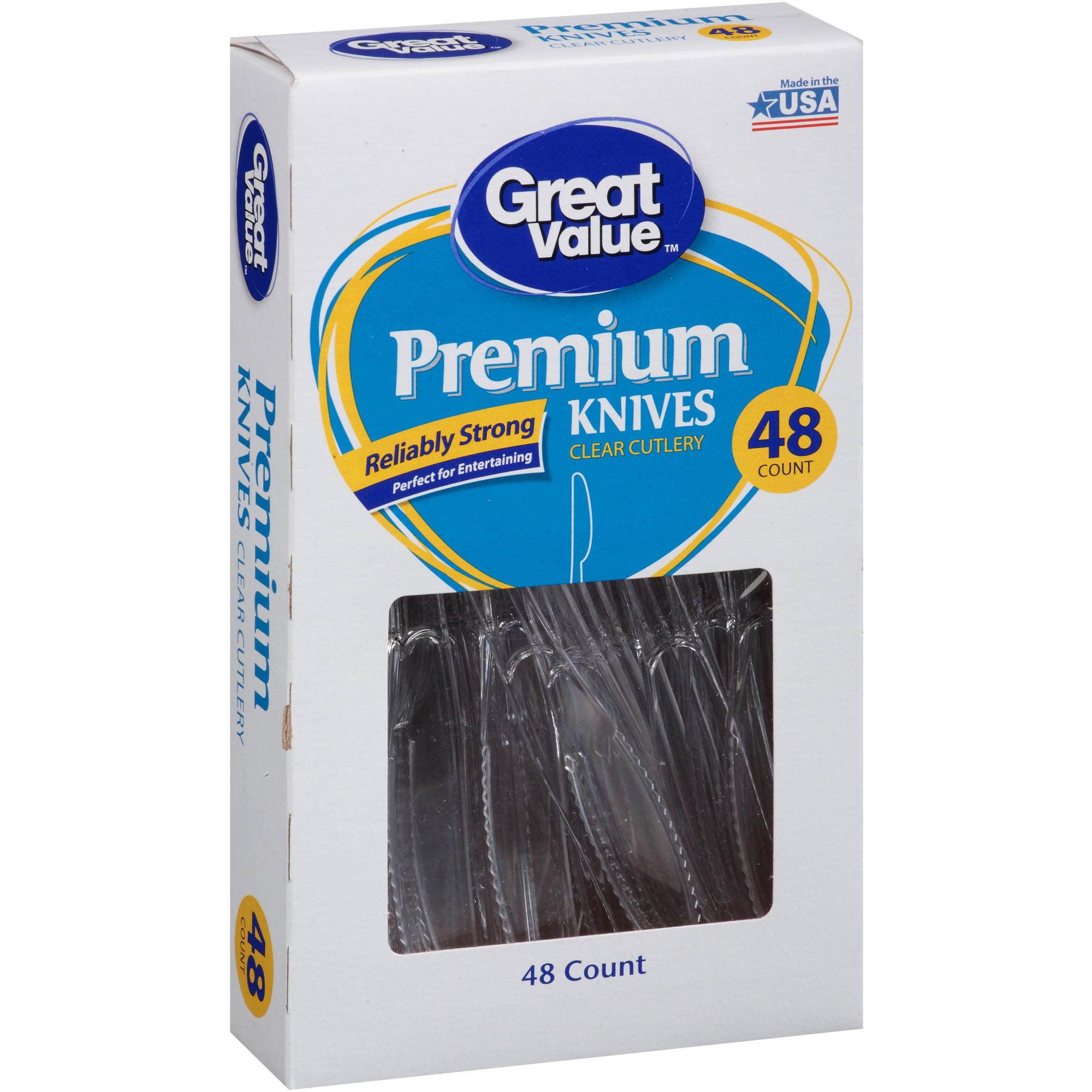 Great Value Premium Knives, 48 Ct