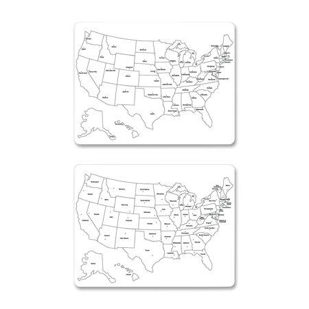 Chenillekraft Sided Large Usa Map Whiteboard Width X - Us map whiteboard