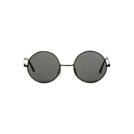 Gravity Shades Circular Frame Style Sunglasses, Black (Circular Sunglasses Men)